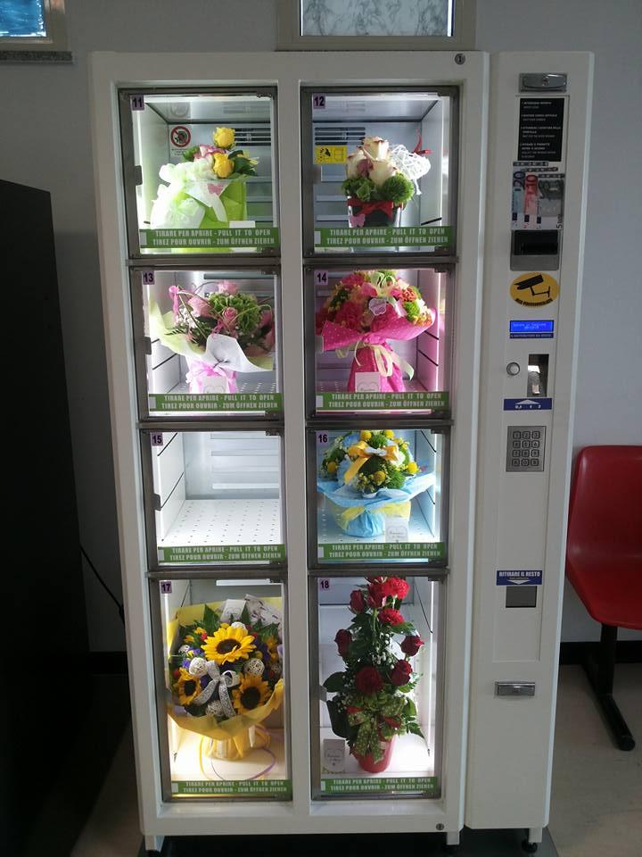 Blomsterautomaten Flowerbox: 8-10 rum med køling og kortlæser.