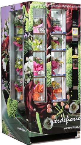 Verdefioriè med karrusel, der kan rumme 18-24 buketter