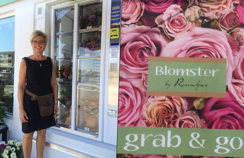 Ny blomsterautomat i Aalborg - Blomster by Rosenkjær