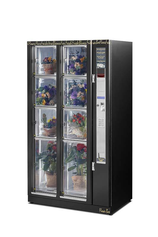 Når blomsterautomaten er fyldt op, kan du sælge blomster, selv når din butik holder lukket