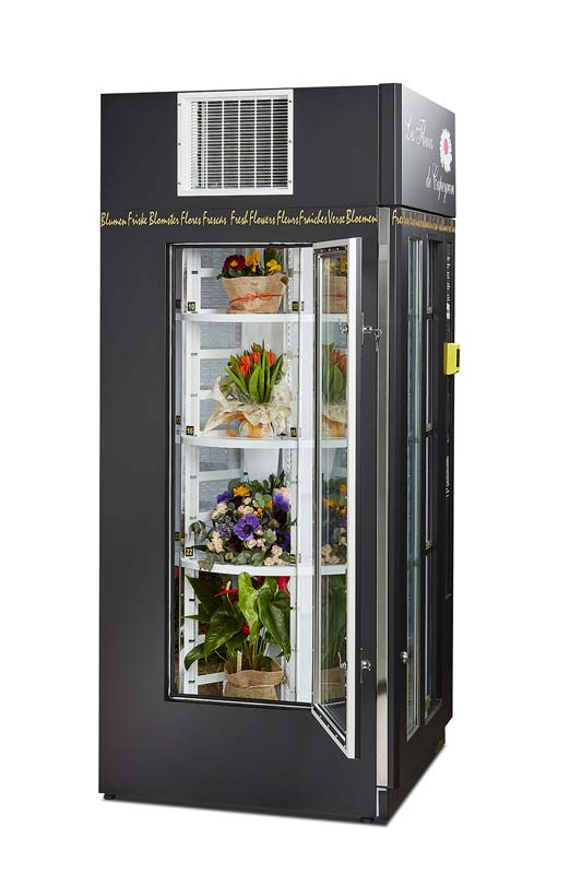 Fyld din blomsterautomat op med flotte buketter – de holder sig friske i automaten
