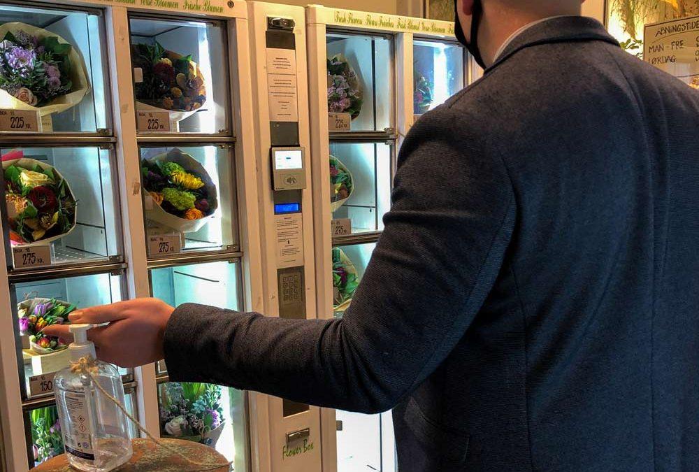 Blomsterautomat i en coronatid