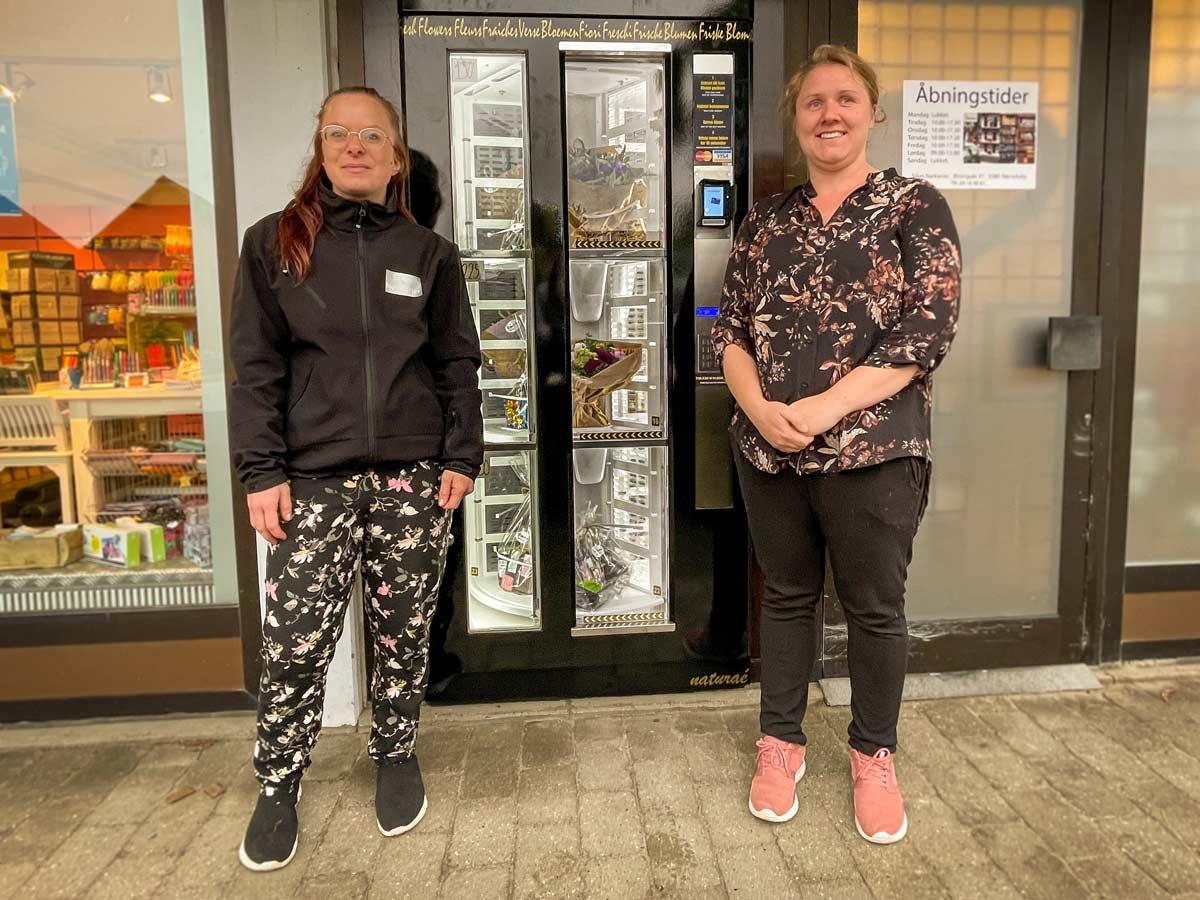 Første Blomsterautomat på Fyn står i Nørre Aaby